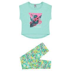Junior - Pyjama en jersey imprimé tropical
