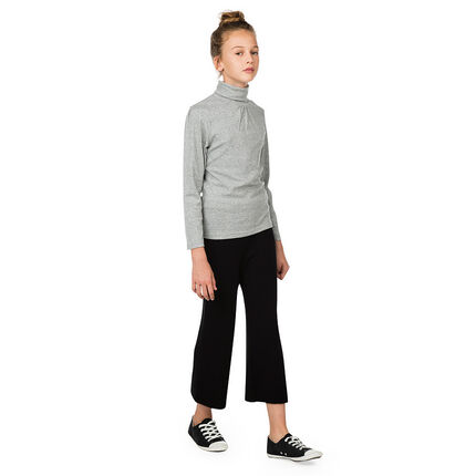 Junior - Pantalon large 7/8ème en tricot