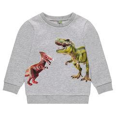 Sweat en molleton avec dinosaures printés