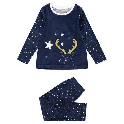 3b59b15b285d5 Junior - Pyjama en velours esprit Noël avec étoiles printées et ...