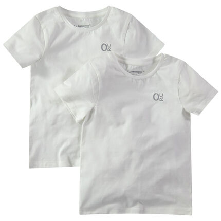 Lot de 2 maillots de corps unis en coton avec logo printé