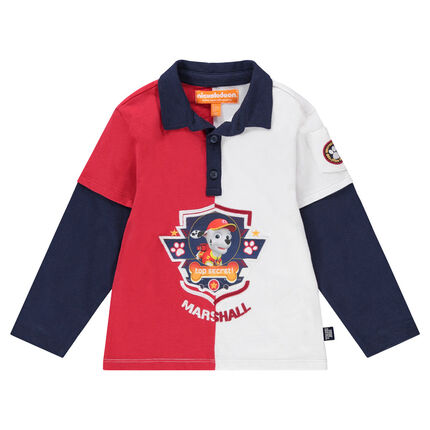 Polo manches longues effet 2 en 1 print Marcus Pat'Patrouille Nickelodeon™