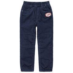 Pantalon doublé polaire avec patch