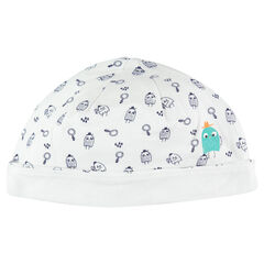 Bonnet en jersey à motif all-over et print monstres