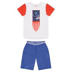Junior - Pyjama en jersey avec print Captain America ©Marvel