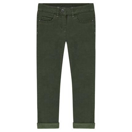 Junior - Pantalon en twill doublé polaire