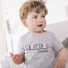 """T-shirt  manches courtes à texte printé """"Le Bout'Chou"""" Team family , Orchestra"""