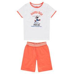 Pyjama court en jersey bicolore print Mickey vintage ©Disney