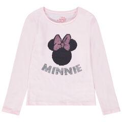 T-shirt manches longues avec Minnie en sequins magiques Disney