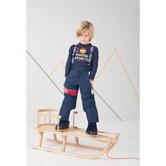 Pantalon de ski imperméable avec bretelles amovibles et poches zippées