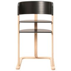Chaise haute évolutive en bois Curve - Anthracite