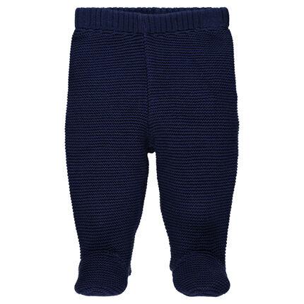Pantalon en maille épaisse à pieds fermés
