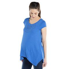 Tee-shirt de grossesse aspect neps ouvert au dos