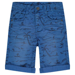 Bermuda en twill imprimé all-over