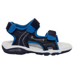 Nu-pieds bi-matière à scratchs du 24 au 29