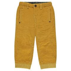Pantalon en velours milleraies uni