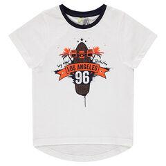 "Tee-shirt manches courtes avec print ""Los Angeles"""