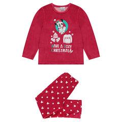 Pyjama en velours print Mickey esprit Noël