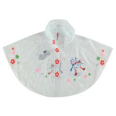Cape de pluie transparente avec fleurs et motifs fantaisie