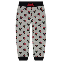 Pantalon de jogging en molleton avec serti Minnie ©Disney all-over
