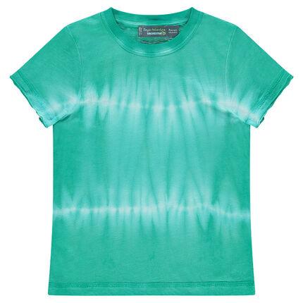 Tee-shirt manches courtes en jersey effet shibori