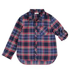 Junior - Chemise manches longues à carreaux sur armure fantaisie