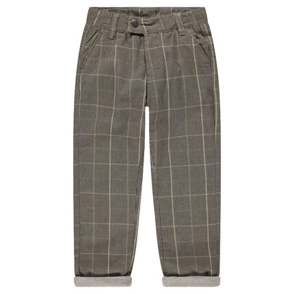 Pantalon en coton à carreaux Prince de Galles