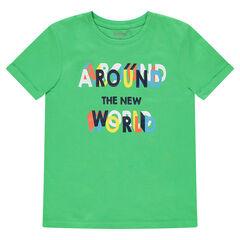 Junior - Tee-shirt manches courtes en jersey avec motif printé