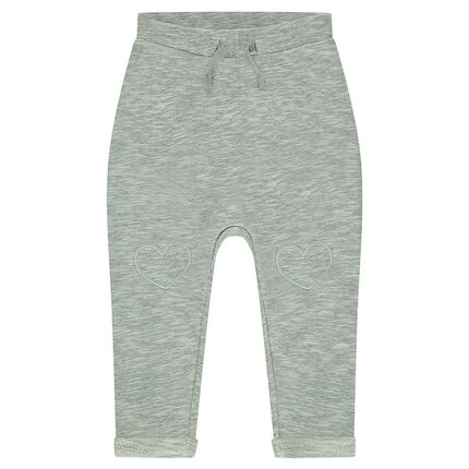 Pantalon de jogging en molleton twisté avec patchs