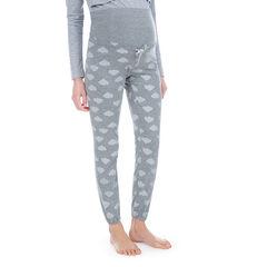 Pantalon homewear de grossesse avec nuages printés all-over