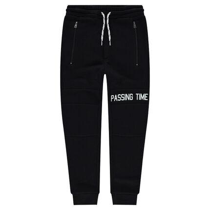 Pantalon de jogging en molleton avec poches zippées