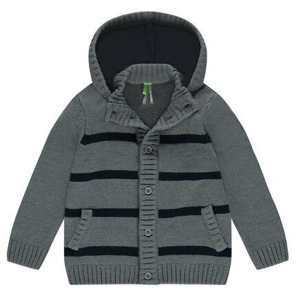 Gilet à capuche en tricot avec coudières