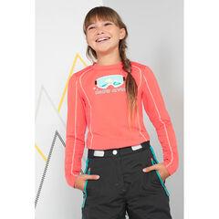 Junior - Tee-shirt de ski manches longues avec masque printé
