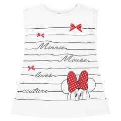 Tee-shirt manches courtes à rayures fantaisie Disney print Minnie