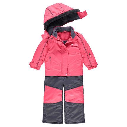 Combinaison de ski imperméable bicolore doublée micropolaire ... cf0e2435022