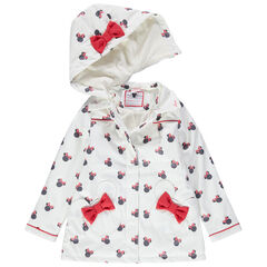 Parka en gomme imprimée Minnie all-over doublée sherpa