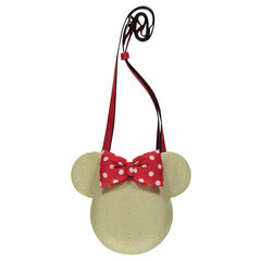 Sac effet paille Disney Minnie avec lanière réglable