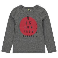 Junior - Tee-shirt manches longues en jersey avec cercle printé