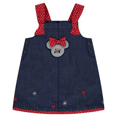 Robe en chambray Disney avec badge serti Minnie
