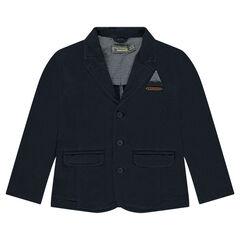 Blazer en jersey avec poche passepoilée fantaisie