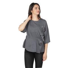 Tee-shirt de grossesse asymétrique avec noeuds