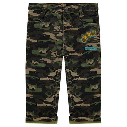 Pantalon motif army avec badges patchés ©Smiley