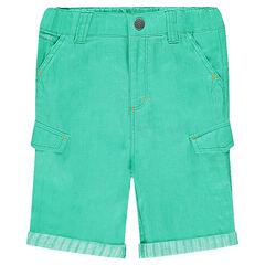 Bermuda en coton surteint à poches