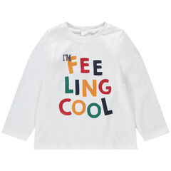 T-shirt manches longues en jersey avec message printé