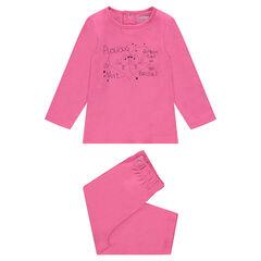 Pyjama en jersey avec print fantaisie