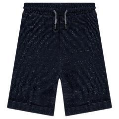 Junior - Bermuda loose en molleton twisté avec poches