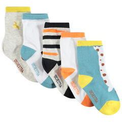Lot de 5 paires de chaussettes assorties à motifs contratés , Orchestra