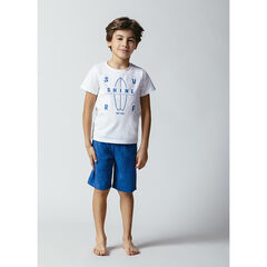 Pyjama avec tee-shirt print surf et bermuda , Orchestra