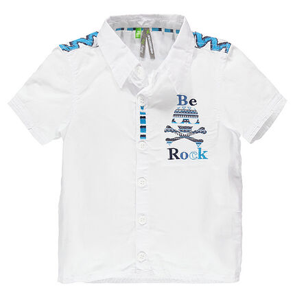 Chemise manches courtes à imprimés ethniques