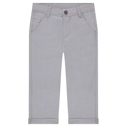 Pantalon blanc en coton ottoman